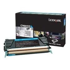 Lexmark C746A4CG Lexmark Toner Cartridge - Cyan - Laser - 6000 Page - 1 Each