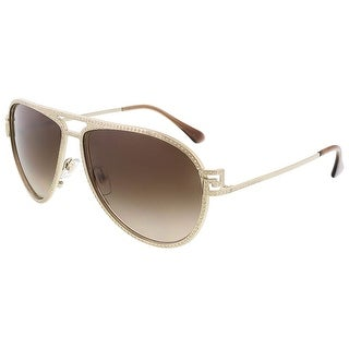 Versace VE2171B 125213 Pale Gold Aviator sunglasses