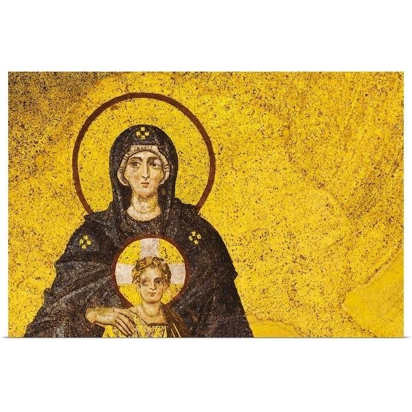 f0936f8466b56 Shop Poster Print entitled Turkey, Istanbul, Mosaic of Virgin Mary ...