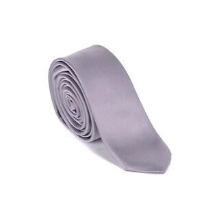 """Dolce & Gabbana Mens Grey 100% Silk 1.5"""" Slim Blade Tie"""