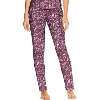Maidenform Lounge Pants - Color - Purple Foil Floral - Size - L