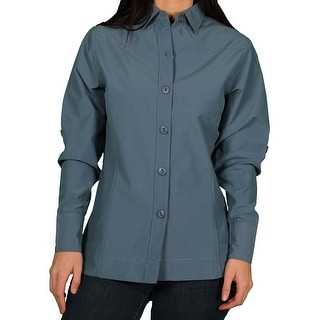 Town & Country Misses Western Yoke Roll-Sleeve Blouse