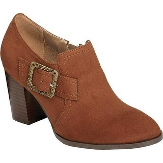 A2 by Aerosoles Women's Wallflower Ankle Bootie Mid Brown Faux Suede/Faux Leather