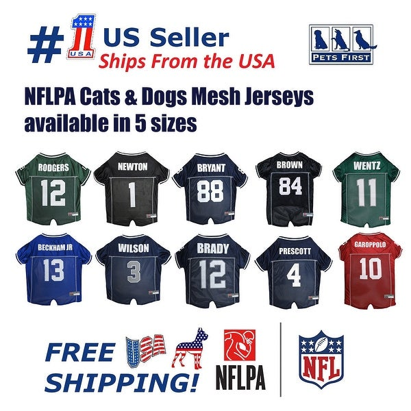 f393d5e9a Shop Pets First NFLPA Mesh Jersey for Dogs and Cats - Licensed. - On ...