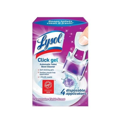 Lysol 1920092919 Toilet Cleaner Click Gel, Lavender Scent, 0.68 Oz