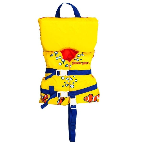 "Yellow Fish USCG Approved Toddler Life Vest 21"" - N/A"