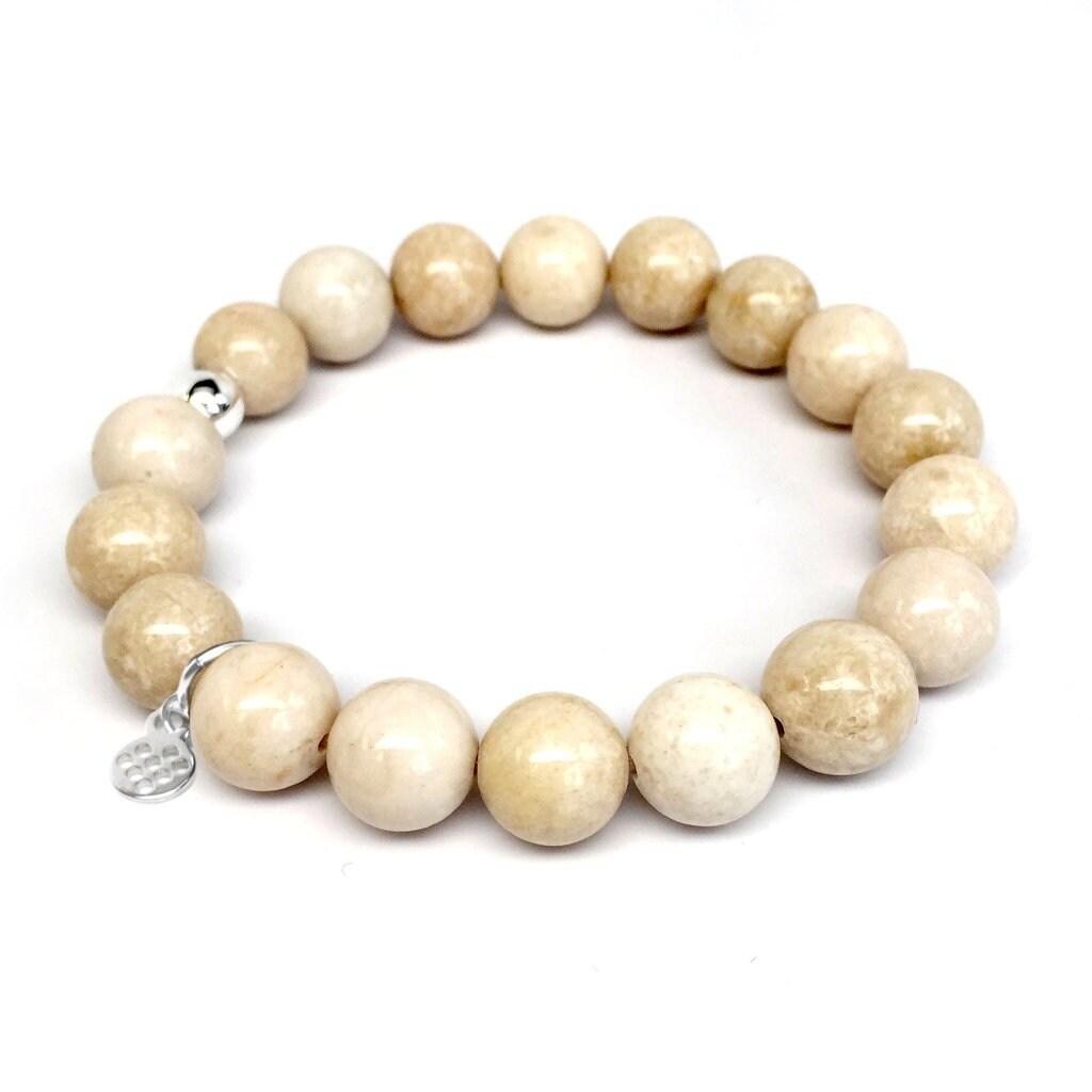 """Ivory Jade Eternal 7"""" Bracelet - Thumbnail 0"""