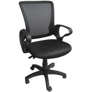 2xhome Mesh Ergonomic Executive Computer Office Desk Task Chair With Cushion Arms Back Wheels Swivel Mid Work Manager