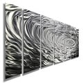 Statements2000 Silver Modern Etched Metal Wall Art Sculpture by Jon Allen - Ripple Effect - Thumbnail 5