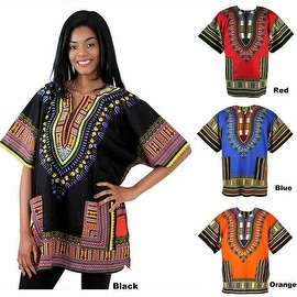 Unisex Ethnic Print Womens Plus Size Summer Casual Loose Short Sleeve Blouse Kaftan Tops T-shirt