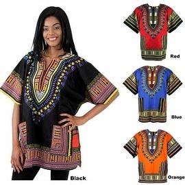 Unisex Ethnic Print Womens Plus Size Summer Casual Loose Short Sleeve Blouse Kaftan Tops T-shirt