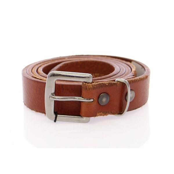 Dolce & Gabbana Dolce & Gabbana Brown Leather Logo Belt - 95-cm-38-inches