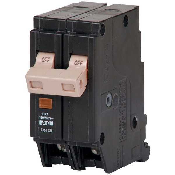 Eaton CHF220 Double Pole Circuit Breaker, 20 Amp, 120/240 Volts AC ...