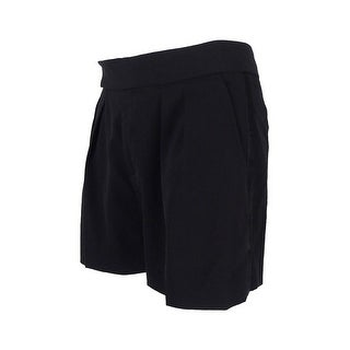 Polo Ralph Lauren Women's Pleated Wool Blend Solid Shorts - Black