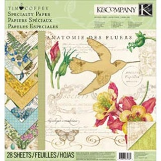 """28 Sheets - Foliage Specialty Paper Pad 12""""X12"""""""