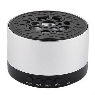 Rechargeable Wireless Water Resistant Dustproof bluetooth Speaker Silver Tone