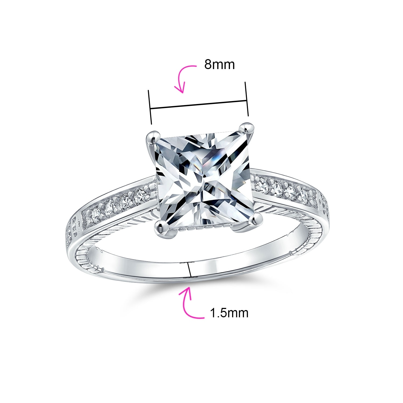 princess cut rings Princess cut Cubic Zirconia ring engagement ring