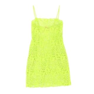 Josie Natori NEW Green Women's Size Medium M Lace Chemise Sleepwear