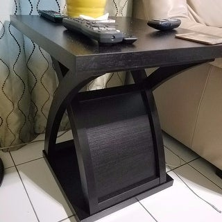 Furniture of America Barkley Modern Espresso X-Base End Table