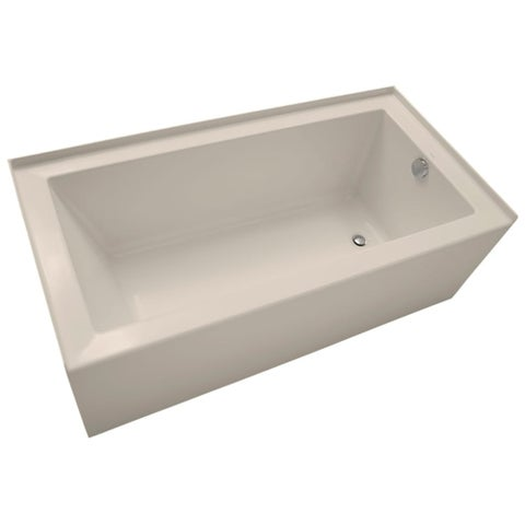 "Mirabelle MIRSKS6030R Sitka 60"" X 30"" Acrylic Soaking Bathtub for Three Wall Alcove Installations with Right Drain - N/A"