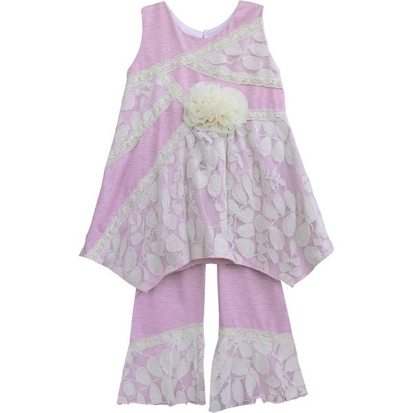 Isobella & Chloe Baby Girls Lilac Arabella Two Piece Pant Outfit Set 3M-24M