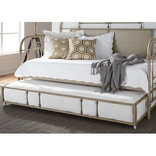 Link to Carbon Loft Cauthen Vintage Series Vintage Cream Twin Metal Trundle Similar Items in Kids' & Toddler Furniture