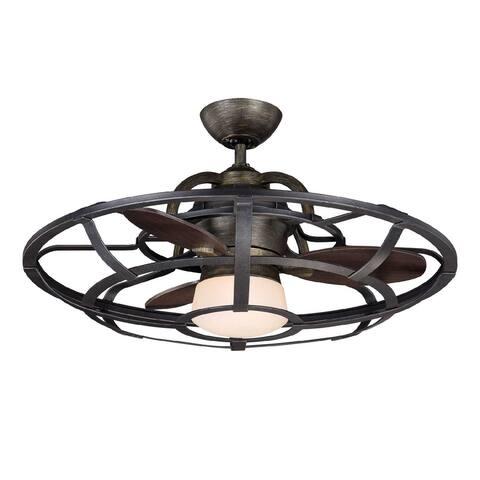 Windstar LED Fan D`Lier Reclaimed Wood - Exact Size