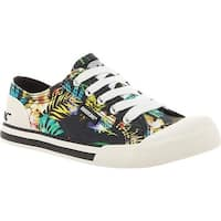 Rocket Dog Women's Jazzin Black Jungle Bloom Cotton