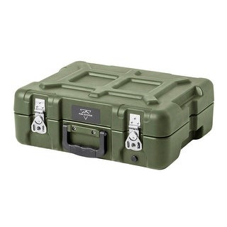 Monoprice Rotomodeled Weatherproof Case - Green ( 15 x 11 x 6 inches) With Customizable Foam - Pure Outdoor Collection