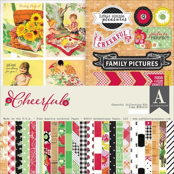 "Authentique Collection Kit 12""X12""-Cheerful"