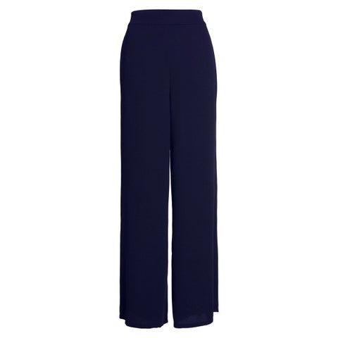 Leith Navy Blue Women's Size XXL Plus Stretch Wide Dress Pants