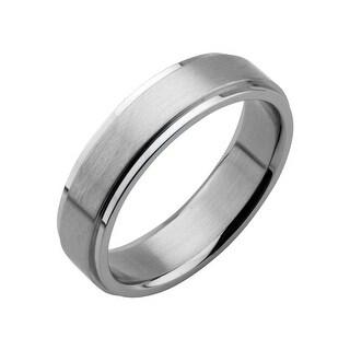 Inox Stainless Steel 6mm Polish Finished Edges Wedding Band Ring .Available Sizes: 9 - 12