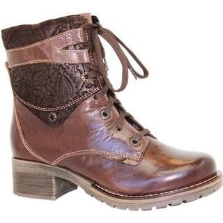 Dromedaris Women's Kara Shearling Boot Chocolate Leather
