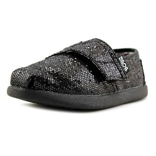 Lil' Bobs by Skechers Bobs World Round Toe Synthetic Loafer