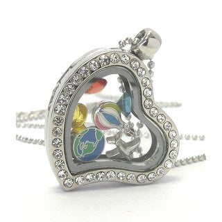 Heart Charm Locket Necklace for Travel