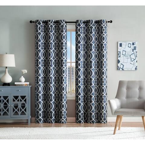 Montana Geometric Window Panel Pair
