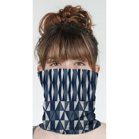 """STEPPING STONE NAVY Neck Gaiter By Becky Bailey - 10"""" x 18"""""""