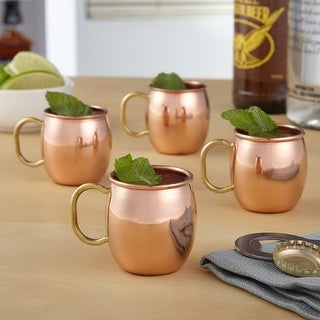 Copper Moscow Shot Glasses, Set of 4