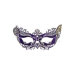 Pure Seasons Winged Angel Venetian Mask (Purple) - Purple