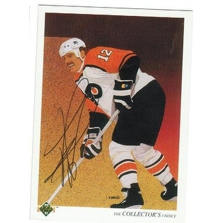 Tim Kerr Philadelphia Flyers Autographed 1990-91 Upper Deck Team Checklist Card