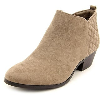 Style & Co Wessley Women Round Toe Canvas Tan Bootie