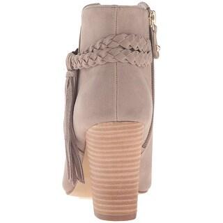 XOXO Womens Belina Peep Toe Ankle Fashion Boots