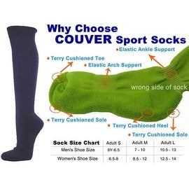 Dark Purple Couver Knee High Unisex Sports Athletic Baseball Softball Socks(3 Pairs)
