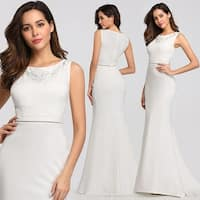 Ever-Pretty Womens Embroidery Lace White Party Wedding Dress Bridal Gown 07804