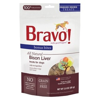 Bravo Bonus Bites Freeze Dried Buffalo Livers 3 oz
