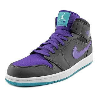 Nike Air Jordan 1 Mid   Round Toe Leather  Basketball Shoe