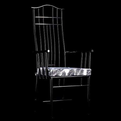 StyleCraft Macau Yoke Back Metal Armchair