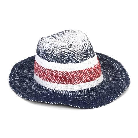 Womens USA Faded Straw Sun Hat
