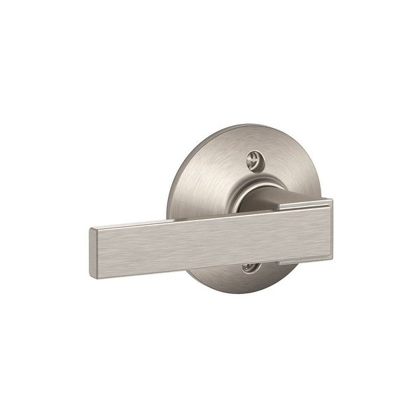 Schlage F170-NBK Northbrook Non-Turning One-Sided Dummy Door Lever - Satin Nickel
