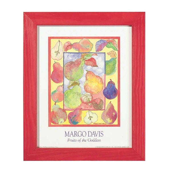 Framed Print Margo Davis Primary Pear Print 13.5 x 16.5 | Renovator's Supply